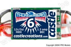 Castle - Thunder Bird 6 - Brushless Sport Flugregler - 2-3S - 6A - Bec CC-010-0055-00