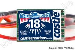 Castle - Thunder Bird 18 - Brushless Sport Flugregler - 2-3S - 18A - Bec CC-010-0058-00