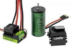 Castle - Mamba Max Pro SCT - Combo - 1-10 Extreme Brushless Car Regler mit 1415-2400 Sensorless Motor CC-010-0091-00