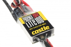 Castle - Phoenix Edge Lite 100 - Hochleistungs Brushless Flug und Heli Regler - Leichte Ausführung - Datenspeicher - Telemetrie fähig - Aux. Kabel -