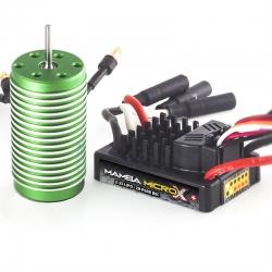 Castle - Mamba Micro X - Combo - 1-18 Extreme Brushless Car Regler mit 0808-5300 Sensorless Motor CC-010-0147-02