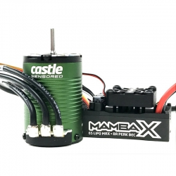 Castle - Mamba X SCT - Combo - 1-10 Extreme Brushless SCT Car Regler mit 1410-3800 Sensored Motor CC-010-0161-00