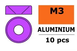 G-Force RC - Aluminium Unterlegscheibe - für M3 Senkkopfschrauben - AD=8mm - Violet - 10 St GF-0405-032