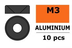 G-Force RC - Aluminium Unterlegscheibe - für M3 Senkkopfschrauben - AD=8mm - Gun Metal - 10 St GF-0405-033
