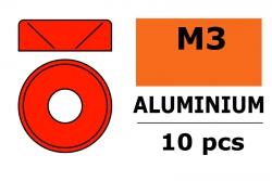 G-Force RC - Aluminium Unterlegscheibe - für M3 Senkkopfschrauben - AD=8mm - Rot - 10 St GF-0405-035