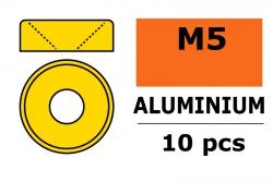 G-Force RC - Aluminium Unterlegscheibe - für M5 Senkkopfschrauben - AD=12mm - Gold - 10 St GF-0405-050