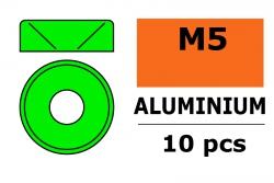 G-Force RC - Aluminium Unterlegscheibe - für M5 Senkkopfschrauben - AD=12mm - Grün - 10 St GF-0405-051