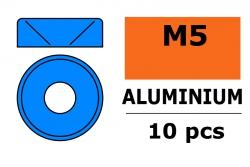 G-Force RC - Aluminium Unterlegscheibe - für M5 Senkkopfschrauben - AD=12mm - Blau - 10 St GF-0405-054