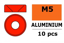 G-Force RC - Aluminium Unterlegscheibe - für M5 Senkkopfschrauben - AD=12mm - Rot - 10 St GF-0405-055