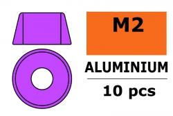 G-Force RC - Aluminium Unterlegscheibe - für M2 Zylinderkopfschrauben - AD=6mm - Violet - 10 St GF-0406-012