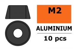 G-Force RC - Aluminium Unterlegscheibe - für M2 Zylinderkopfschrauben - AD=6mm - Gun Metal - 10 St GF-0406-013