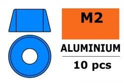 G-Force RC - Aluminium Unterlegscheibe - für M2 Zylinderkopfschrauben - AD=6mm - Blau - 10 St GF-0406-014