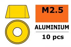G-Force RC - Aluminium Unterlegscheibe - für M2.5 Zylinderkopfschrauben - AD=7mm - Gold - 10 St GF-0406-020