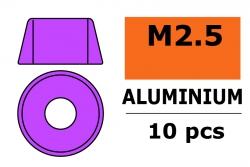G-Force RC - Aluminium Unterlegscheibe - für M2.5 Zylinderkopfschrauben - AD=7mm - Violet - 10 St GF-0406-022