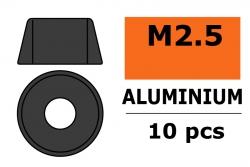 G-Force RC - Aluminium Unterlegscheibe - für M2.5 Zylinderkopfschrauben - AD=7mm - Gun Metal - 10 St GF-0406-023