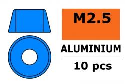 G-Force RC - Aluminium Unterlegscheibe - für M2.5 Zylinderkopfschrauben - AD=7mm - Blau - 10 St GF-0406-024