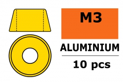 G-Force RC - Aluminium Unterlegscheibe - für M3 Zylinderkopfschrauben - AD=8mm - Gold - 10 St GF-0406-030