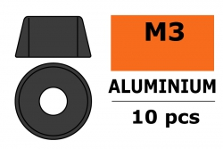 G-Force RC - Aluminium Unterlegscheibe - für M3 Zylinderkopfschrauben - AD=8mm - Gun Metal - 10 St GF-0406-033