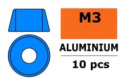 G-Force RC - Aluminium Unterlegscheibe - für M3 Zylinderkopfschrauben - AD=8mm - Blau - 10 St GF-0406-034