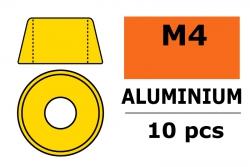 G-Force RC - Aluminium Unterlegscheibe - für M4 Zylinderkopfschrauben - AD=10mm - Gold - 10 St GF-0406-040