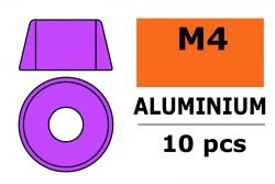 G-Force RC - Aluminium Unterlegscheibe - für M4 Zylinderkopfschrauben - AD=10mm - Violet - 10 St GF-0406-042