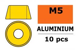 G-Force RC - Aluminium Unterlegscheibe - für M5 Zylinderkopfschrauben - AD=12mm - Gold - 10 St GF-0406-050