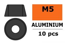 G-Force RC - Aluminium Unterlegscheibe - für M5 Zylinderkopfschrauben - AD=12mm - Gun Metal - 10 St GF-0406-053
