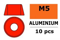 G-Force RC - Aluminium Unterlegscheibe - für M5 Zylinderkopfschrauben - AD=12mm - Rot - 10 St GF-0406-055