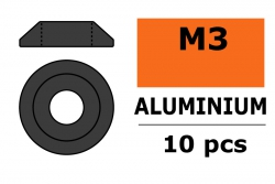 G-Force RC - Aluminium Unterlegscheibe - for M3 Linsenkopfschrauben - AD=10mm - Gun Metal - 10 St GF-0407-023