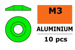 G-Force RC - Aluminium Unterlegscheibe - for M3 Linsenkopfschrauben - AD=15mm - Grün - 10 St GF-0407-031