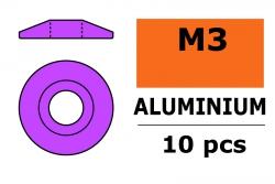 G-Force RC - Aluminium Unterlegscheibe - for M3 Linsenkopfschrauben - AD=15mm - Violet - 10 St GF-0407-032