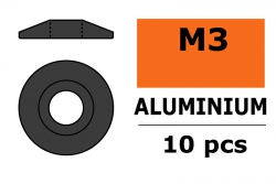G-Force RC - Aluminium Unterlegscheibe - for M3 Linsenkopfschrauben - AD=15mm - Gun Metal - 10 St GF-0407-033