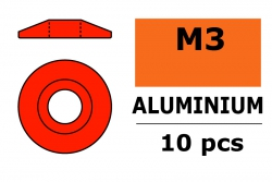 G-Force RC - Aluminium Unterlegscheibe - for M3 Linsenkopfschrauben - AD=15mm - Rot - 10 St GF-0407-035