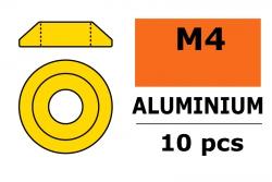 G-Force RC - Aluminium Unterlegscheibe - for M4 Linsenkopfschrauben - AD=12mm - Gold - 10 St GF-0407-040