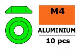 G-Force RC - Aluminium Unterlegscheibe - for M4 Linsenkopfschrauben - AD=12mm - Grün - 10 St GF-0407-041