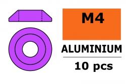 G-Force RC - Aluminium Unterlegscheibe - for M4 Linsenkopfschrauben - AD=12mm - Violet - 10 St GF-0407-042