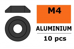 G-Force RC - Aluminium Unterlegscheibe - for M4 Linsenkopfschrauben - AD=12mm - Gun Metal - 10 St GF-0407-043