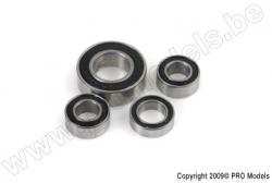 G-Force RC - Ball Bearing - Ceramic Balls - ABEC 3 - Gummidichtung - 5X13X4C - 695-2RS/C - 2 St GF-0510-004