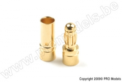 G-Force RC - Steckverbinder - 3.5mm - Goldkontakten - Stecker + Buchse - 4 Paare GF-1000-002