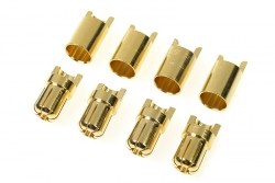 G-Force RC - Steckverbinder - 6.5mm - Goldkontakten - Stecker + Buchse - 4 Paare GF-1000-009