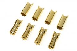 G-Force RC - Steckverbinder - 5.5mm - Goldkontakten - Stecker + Buchse - 4 Paare GF-1000-010