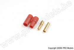 G-Force RC - Steckverbinder - 3.5mm - Goldkontakten - mit Plastik Gehause - 4 St GF-1001-002