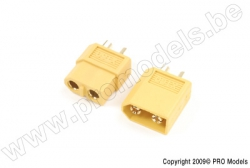 G-Force RC - Steckverbinder - XT-60 - Goldkontakten - Stecker + Buchse - 2 Paare GF-1003-001