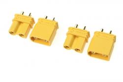 G-Force RC - Steckverbinder - XT-30U - Goldkontakten - Stecker + Buchse - 2 Paare GF-1033-001
