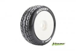 Louise RC - B-ROCKET - 1-8 Buggy Reifen - Fertig Verklebt - Soft - Felgen Weiss - Hex 17mm - 1 Paar LR-T3190SW