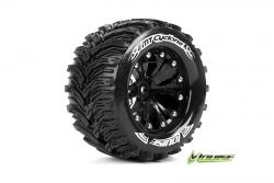 Louise RC - MT-CYCLONE - 1-10 Monster Truck Reifen - Fertig Verklebt - Soft - 2.8 Felgen Schwarz - BB - GP JATO 2WD Vorder - GP STAMPEDE 2WD Vorder -