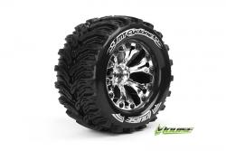 Louise RC - MT-CYCLONE - 1-10 Monster Truck Reifen - Fertig Verklebt - Soft - 2.8 Felgen Chrom - 1/2-Offset - GP JATO 2WD Hinten - GP STAMPEDE 2WD H