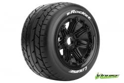 Louise RC - B-ROCKET -  1-5 Buggy Reifen - Fertig Verklebt - SPORT - Felgen Schwarz 24mm - Hex - Hinten - 1 Paar LR-T3242B