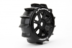 Louise RC - B-PADDLE - 1-8 Buggy Reifen - Fertig Verklebt - Soft - Speichen Felgen Schwarz - Hex 17mm - 1 Paar LR-T3249SB