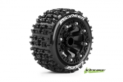 Louise RC - ST-PIONEER - 1-16 Truck Reifen - Fertig Verklebt - Soft - 2.2 Felgen Schwarz - REVO - SUMMIT - Savage XS Flux - Vorder - Hinten - 1 Paar